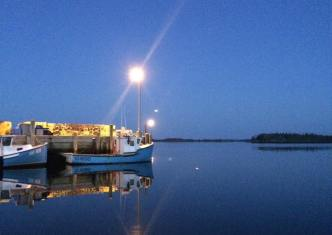 A calm morning at the wharf in Tangier, NS